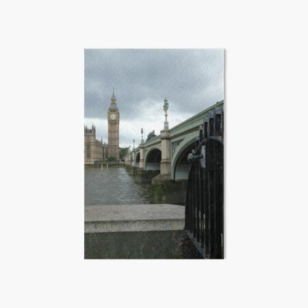 Big Ben across the Thames Art Board Print
