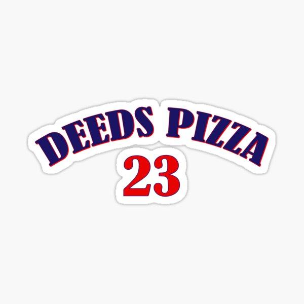 DEEDS' PIZZA - DISTRESSED Slim Fit T-Shirt Sticker
