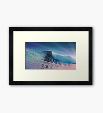 Silky Surf Framed Print