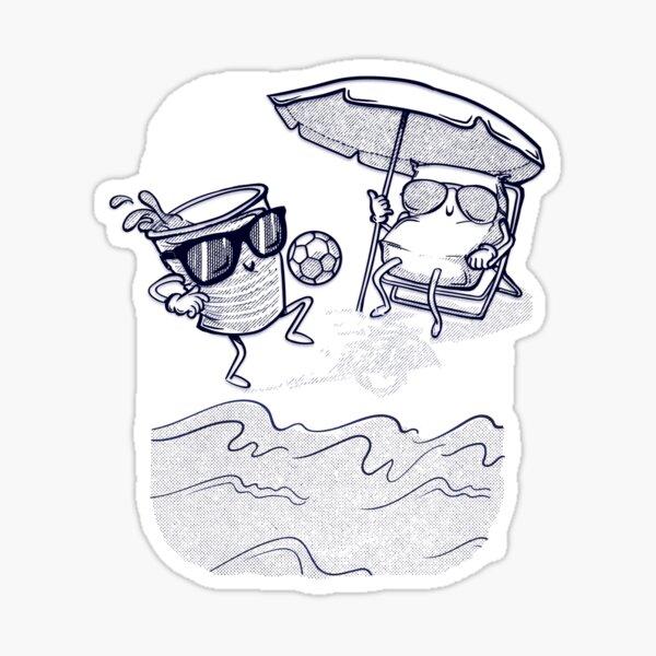 Reis da Praia line Sticker