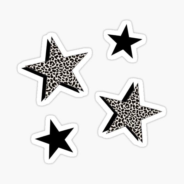 cheetah print star pack Sticker