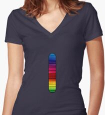 Letter Series- l Women's Fitted V-Neck T-Shirt