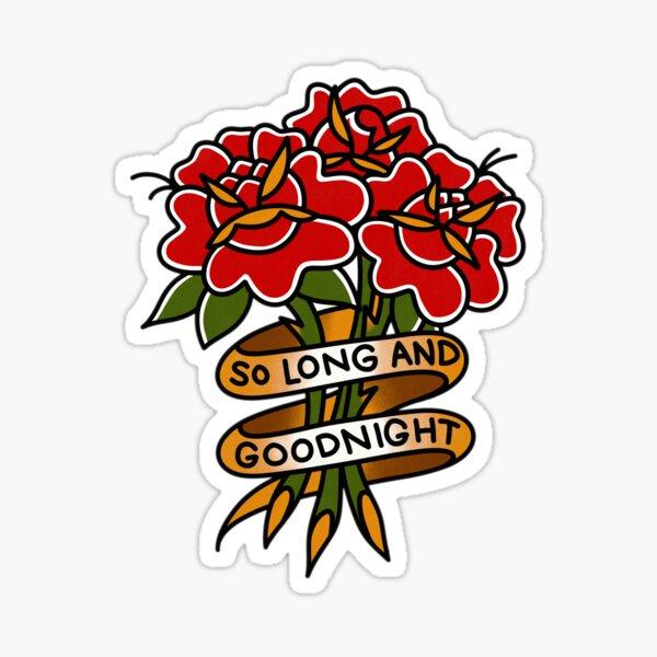 hasta luego y buenas noches Pegatina
