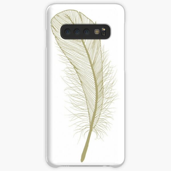 Fat Feather in non-metalic Gold Samsung Galaxy Snap Case