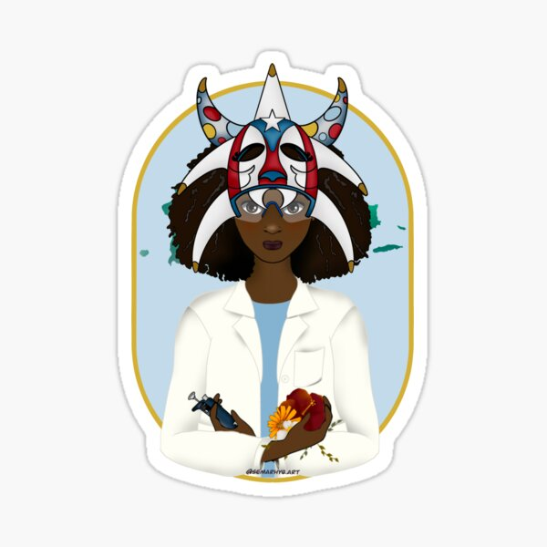 Puerto Rican Woman in STEAM Sticker