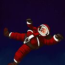 Christmas Santa Space Man Astronaut in Orbit by astralsid