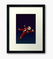 Christmas Santa Space Man Astronaut in Orbit Framed Print
