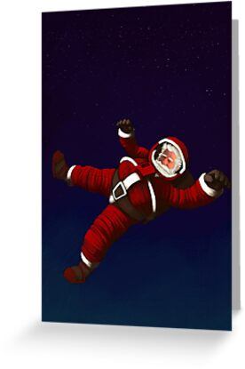 Christmas Santa Space Man Astronaut in Orbit by astralsid
