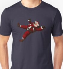 Christmas Santa Space Man Astronaut in Orbit T-Shirt