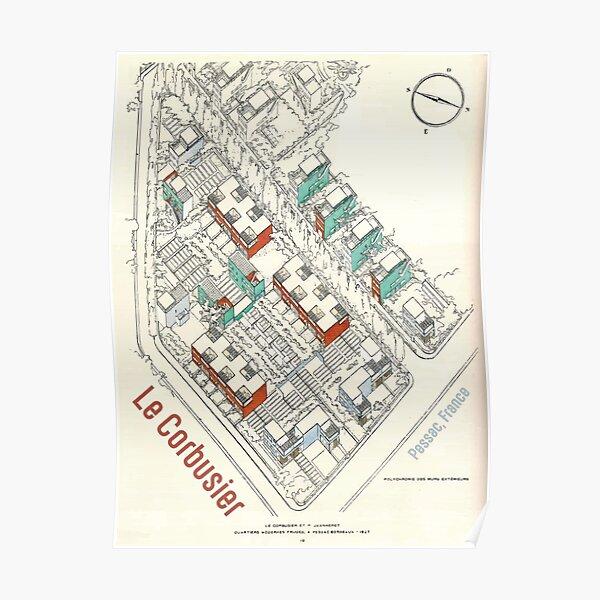 Estampado Le Corbusier vintage Póster
