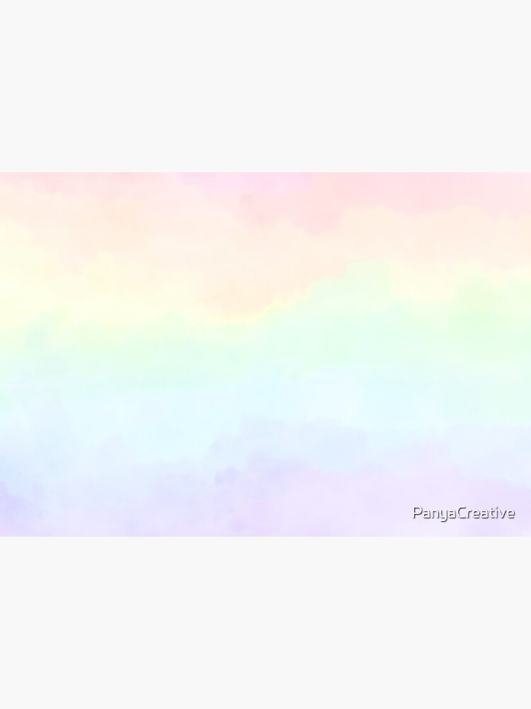 Rainbow Pastel Watercolor Gradient by PanyaCreative