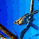 Singing Song Sparrow 2 Abstract Impressionism by pjwuebker