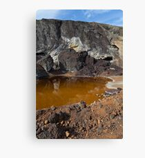acidic waters in pyrite smelting landfill Canvas Print