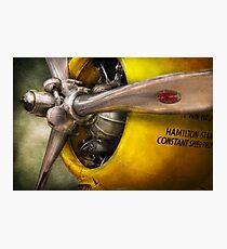 Plane - Pilot - Prop - Twin Wasp Photographic Print