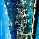 Seward Harbor Alaska Abstract Impressionism by pjwuebker