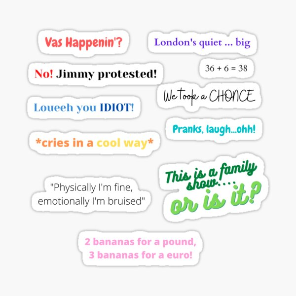 ICONIC 1D JOKES Sticker