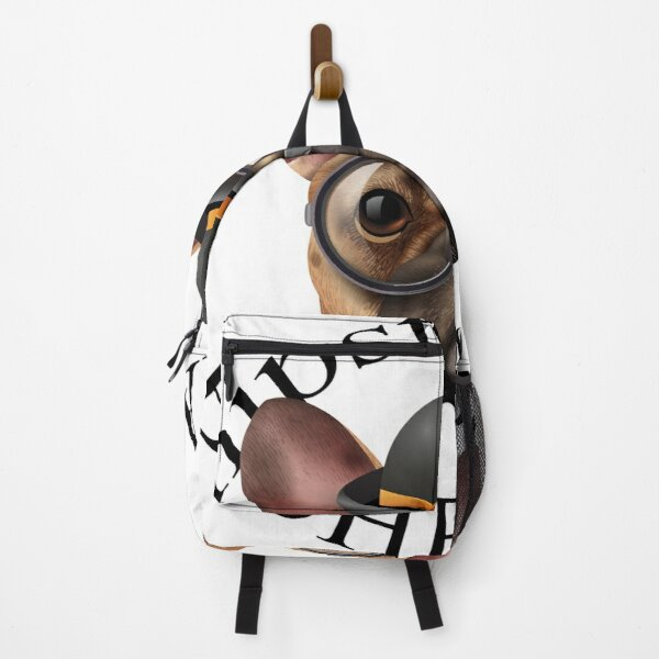 Hipster pug. Dog. Quotes Backpack
