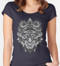 Mask Black & White Women's Fitted Scoop T-Shirt