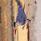 Royal Tern in Winter Colors 2 Abstract Impressionism by pjwuebker
