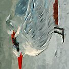 Royal Tern in Winter Colors Abstract Impressionism by pjwuebker