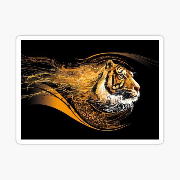 Profil tigre Sticker