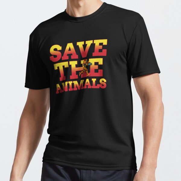 Save The Animals Metroid Active T-Shirt