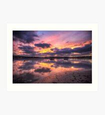 Purple Bembridge Art Print