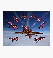 The RAF Red Arrows Photographic Print