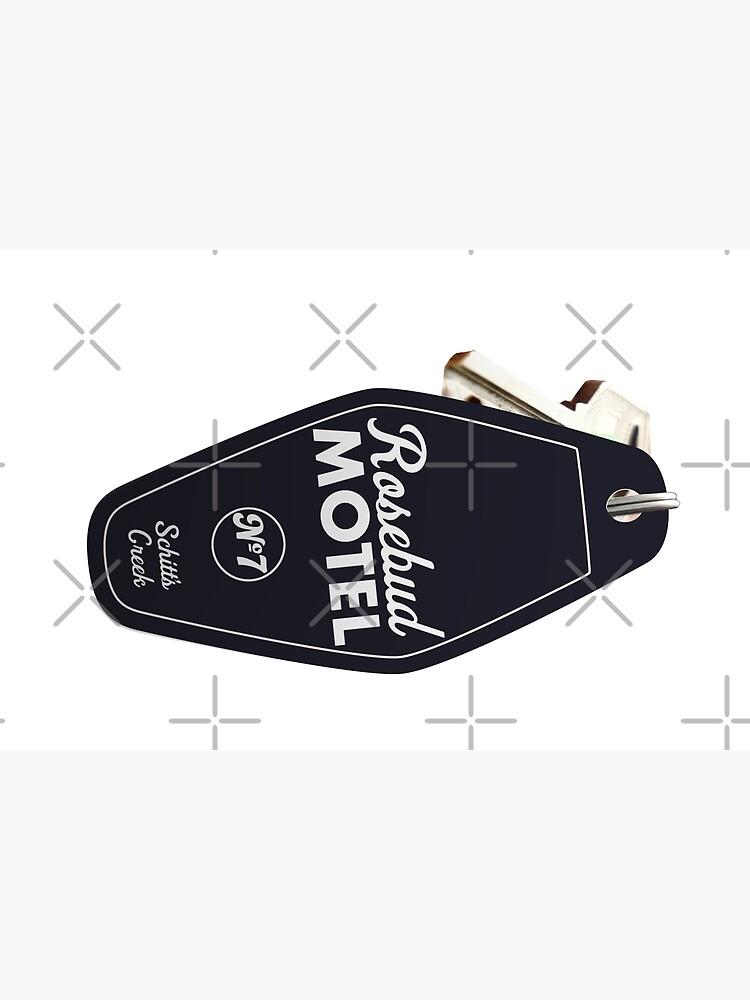 Schitt's Creek Rosebud Motel Key Tag for Room 7, Retro design in black by The-Goods