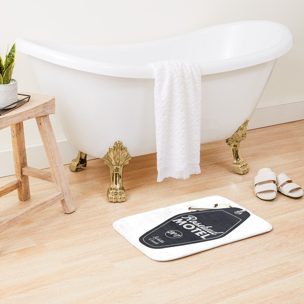 Schitt's Creek Rosebud Motel Key Tag for Room 7, Retro design in black Bath Mat