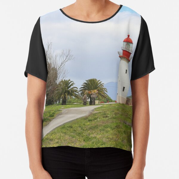 Robben Island Lighthouse, Cape town South Africa  Chiffon Top