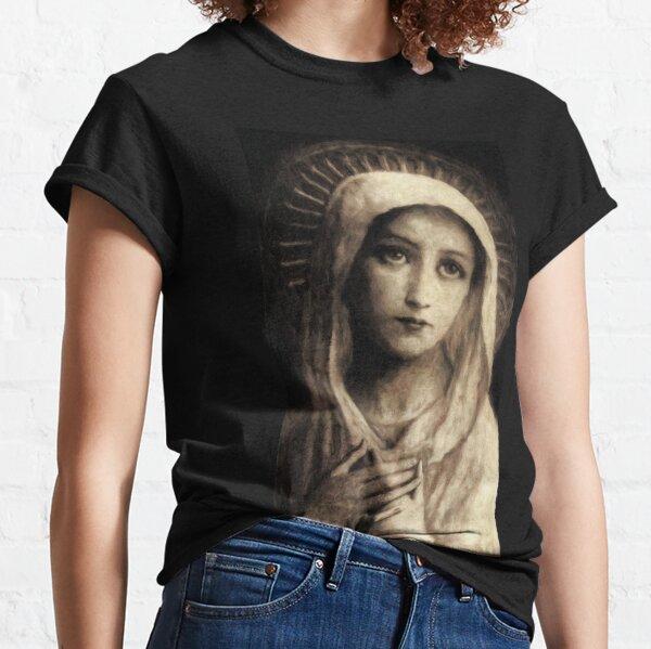 Peinture Vierge Marie Vintage T-shirt classique