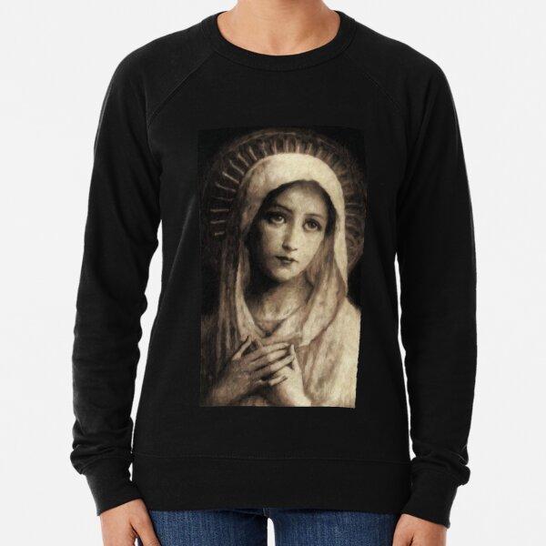 Pintura vintage de la Virgen María Sudadera ligera