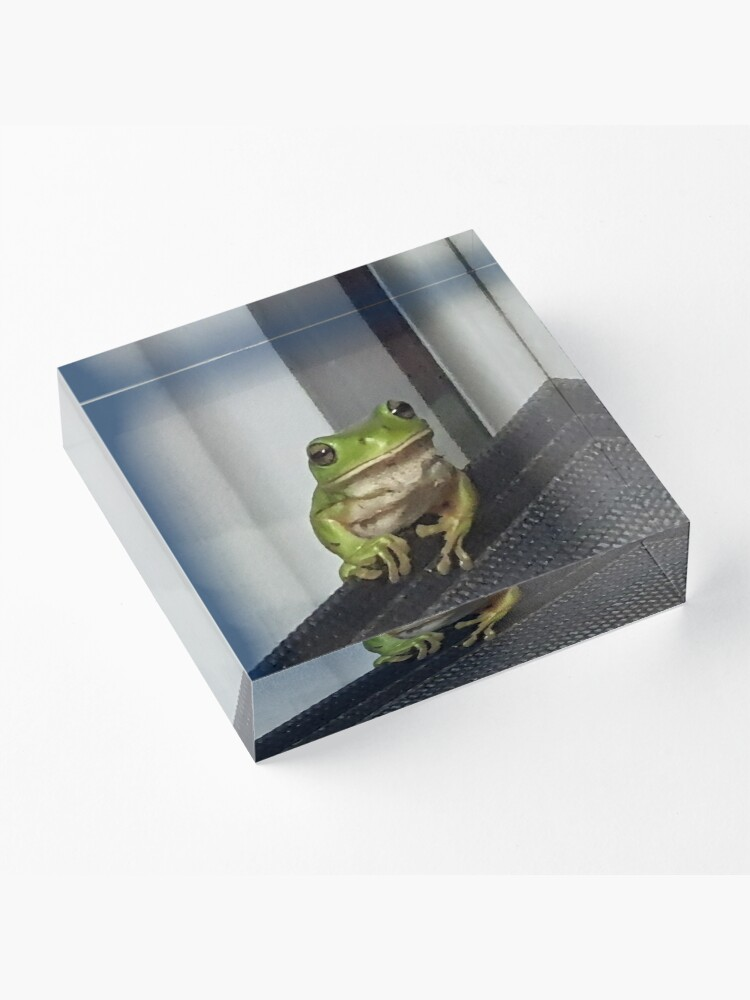 Alternate view of I love being Green Acrylic Block