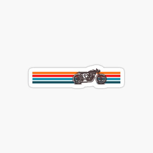 Moto Cafe Racer Design Vintage Sticker