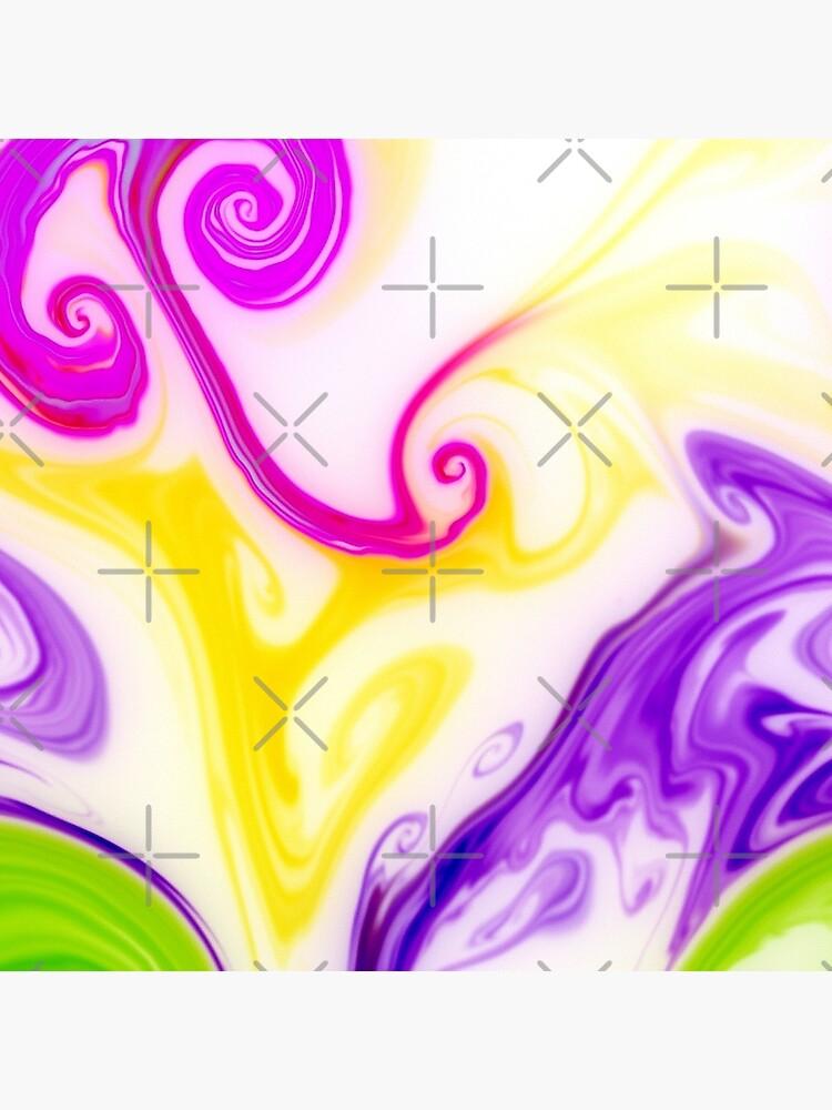 Multicolored unique everlasting pattern, decorative,  aesthetic design, acrylics by CWartDesign