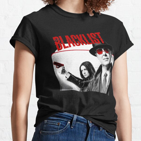 Descubre las camisetas clásicas de la temporada de la lista negra para mujer Cool Black Camiseta clásica