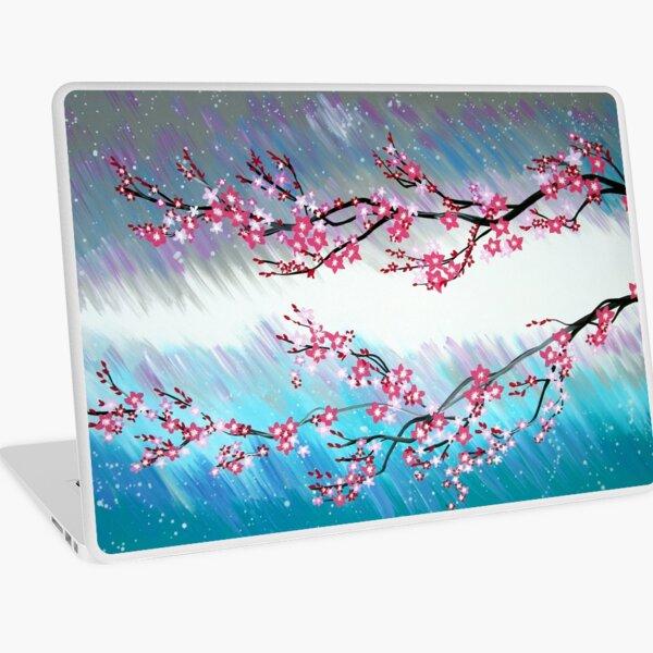 Pink Japanese Flowers Laptop Skin
