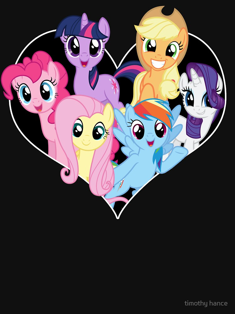 chest heart ponies  | Unisex T-Shirt
