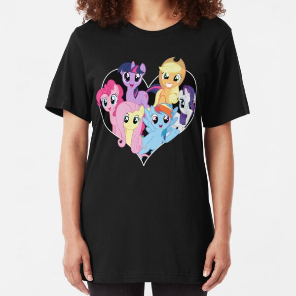 chest heart ponies  Slim Fit T-Shirt
