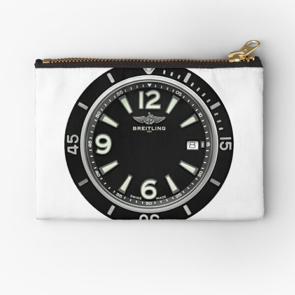 Breitling SUPEROCEAN AUTOMATIC 42 Black Dial Zipper Pouch