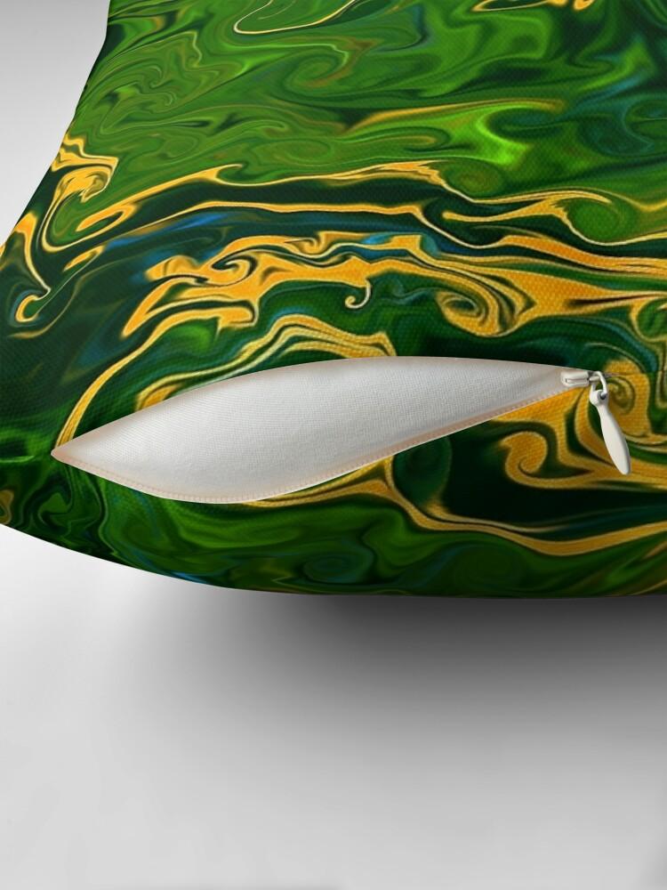 Alternate view of Multicolored unique everlasting pattern, decorative,  aesthetic design, acrylics Throw Pillow