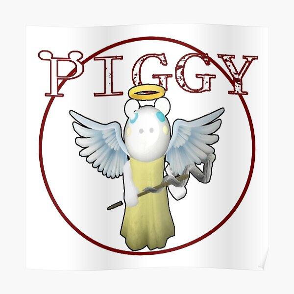 Piggy Kawaii Roblox Angel Piggy Roblox Angel Posters Redbubble