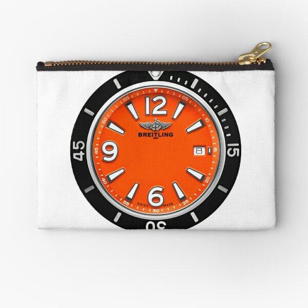Breitling SUPEROCEAN AUTOMATIC 42 Orange Dial Zipper Pouch