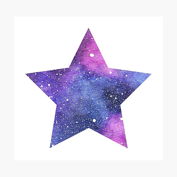 Pink and Blue Galaxy Night Sky Star Photographic Print