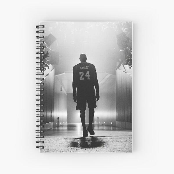 black white poster Spiral Notebook