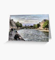 Seine, Paris Greeting Card