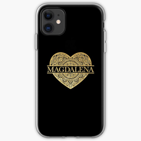 Heart Mandala Magdalena Name - Gift For Magdalena iPhone Soft Case