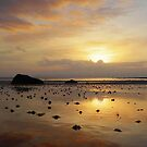 Seamill Reflected Sunset by George Crawford