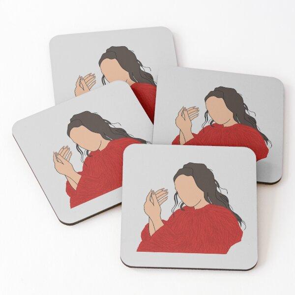 Rosalía Malamente outline Coasters (Set of 4)